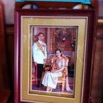 กรอบรูป ร.9กับพระราชินี เพิ่มเม้าท์สีทอง 2 ชั้น และเพิ่มนาฬิกา