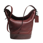 Preorder COACH BLEECKER GROMMETS DUFFLE IN LEATHER Style No: 32392