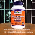 # กระดูก ข้อเข่า # Now Foods, Glucosamine & MSM, Vegetarian, 120 Vcaps