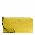 Preorder Coach BLEECKER L-ZIP WALLET IN PEBBLED LEATHER STYLE NO. 51981