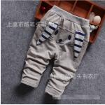 กางเกง สีเทา แพ็ค 4ชุด ไซส์ (เหมาะสำหรับ0-4ขวบ)