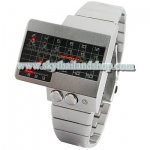 นาฬิกาแฟชั่น Heart Rate Style All Metal Red LED Watch