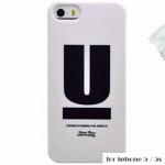 เคสไอโฟน5 / 5s พลาสติกตัวอักษร U สุดแนว สุดเท่ห์ ราคาส่ง ขายถูกสุดๆ