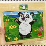 จิ๊กซอไม้แผ่นเล็ก รูปหมีแพนด้า