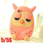 เคสไอโฟน5s / 5 นกฮูก ตุ๊กตา ซิลิโคน 3D น่ารักสุดๆ Roumang zozy and friendly owl ราคาส่ง ขายถูกสุดๆ