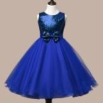 ชุดเดรสราตรีสีน้ำเงิน