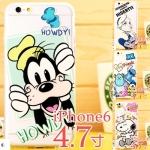 case iphone 6 ขนาดจอ 4.7 นิ้ว ซิลิโคน TPU ลายการ์ตูนน่ารักๆ วันพีช มิกกี้ มินนี่ สนูปปี้ ราคาถูก