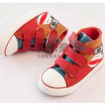 รองเท้าเด็กแฟชั่น สีแดง แพ็ค 6 คู่ ไซส์ 31-32-33-34-35-36