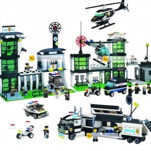 ตำรวจ (police) E-set 2 ตัวต่อเลโก้จีน สถานีตำรวจ (ชุด 4 กล่อง)
