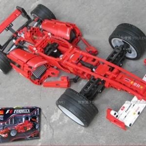 กลไก (Technic) D-3334 ตัวต่อเลโก้จีน เฟอรารี่ F1 ขนาด 1:10