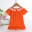 เสื้อ สีส้ม แพ็ค 5ชุด ไซส์ 90-100-110-120-130 thumbnail 2