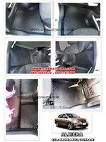 ยางปูพื้นรถยนต์ ALMERA ลายกระดุม สีดำ 12 ชิ้น เต็มคัน เข้ารูป 100%