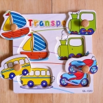QL-020 Transport การเดินทาง #ของเล่นไม้# ของเล่นไม้เด็กเล็ก# ของเล่นไม้ 1 ขวบขึ้นไป# ฝึกการหยิบจับ ความคิด ภาพเหมือน ในการเรียบเรียง รูปทรง