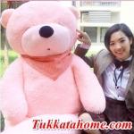 ตุ๊กตาหมีหลับ ตัวใหญ่ ขนาด 1.8 เมตร สีชมพู