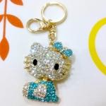 พวงกุญแจ kitty ประดับเพชร (ตัวสีฟ้า)
