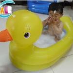 รุ่นประหยัด อ่างอาบน้ำเด็กรูปเป็ดแบบเป่าลม ขนาด: 85 * 52 ซม. ยี่ห้อ AB Duck Tub พลาสติกคุณภาพดี