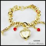 ใหม่ !! สร้อยข้อมือนาฬิกา Guess สีทอง หรูหรา น่ารัก ส่วนนาฬิกาเป็นรูปหัวใจหน้าปันขาว เริ่ดๆ ค่ะ