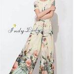จั๊มสูท ZARA สีครีมพิมลาย ดอกไม้ Style ZARA