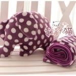 หมอนผ้าห่ม ช้างม่วงลายจุด**Pre order**