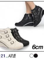 [PRE-ODER] รองเท้าผ้าใบแฟชั่น ส้นสูง 6 CM [Made in Korea]