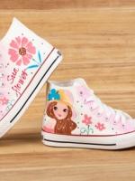 [Pre-order] รองเท้าผ้าใบเพ้นมือ ลายการ์ตูนร์ญีปุ่น