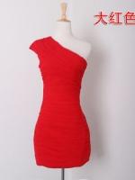 พรีออเดอร์ ชุดราตรี/เดรสออกงาน สีแดง มีไซด์ S/M/L/XL/XXL