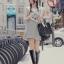 SISOUHOR เดรสแฟชั่นเกาหลี/เสื้อตัวยาวทรงปล่อย แขนล้ำ ลายขวางสีขาวสลับดำ ดีเทลผูกโบว์ใหญ่ที่ไหล่ สวยค่ะ thumbnail 8