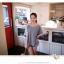 RJ.Story เสื้อแฟชั่นเกาหลีสีเทาตัดต่อด้วยผ้าโครเช ด้านหลังเว้าพร้อมเชือกผูก เก๋มากค่ะ thumbnail 2