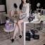 SISOUHOR เดรสแฟชั่นเกาหลี/เสื้อตัวยาวทรงปล่อย แขนล้ำ ลายขวางสีขาวสลับดำ ดีเทลผูกโบว์ใหญ่ที่ไหล่ สวยค่ะ thumbnail 18