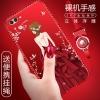 (025-944)เคสมือถือ Case Huawei Honor V10 เคสนิ่มซิลิโคนลายการ์ตูนผู้หญิงขอบเพชรหรูหรา พร้อมแหวนมือถือดอกไม้และสายคล้องคอถอดแยกได้