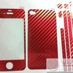 ฟิล์มกันรอยแฟชั่น รอบเครื่อง Kevlar Flim สีแดง for iPhone5 (IP50539) by WhiteMKT