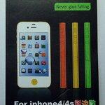 แถบสีติดด้านข้าง สีส้ม for iPhone4S (MSP020) by WhiteMKT