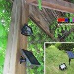 (316-006)สปอร์ตไลท์พลังงานแสงอาทิตย์หลอด LED 45 หลอด 3W