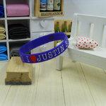 สายรัดข้อ Wristband ริสแบนด์ I Love Justin bieber สีน้ำเงิน