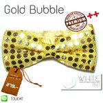 Gold Bubble - หูกระต่าย ลายแฟชั่น ผ้ามันวาว สีเหลือง เหลือบ สะท้อนแสง Premium Quality++ (BT135) by WhiteMKT