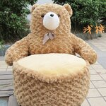 โซฟาตุ๊กตาหมี สีน้ำตาลอ่อน