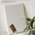 ZENUS Prestige Classic Genuine Leather Stand Cover Case for The New iPad 3