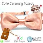 Cute Caramely Tuxedo - หูกระต่ายเด็ก สีตุ่น (53) เนื้อผ้าผิวมัน เรียบ Premium Quality+ (BT400) by WhiteMKT