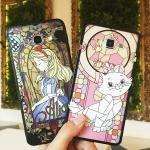 (691-004)เคสมือถือซัมซุง Case Samsung J5 เคสขอบนิ่มพื้นหลังพลาสติกกึ่งโปร่งใสโมเสกการ์ตูน