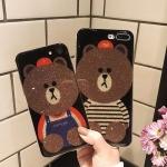 (025-988)เคสมือถือไอโฟน Case iPhone 7 Plus/8 Plus เคสนิ่มหมีไลน์ Glitter