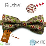 Rushe' - หูกระต่าย น้ำตาลอ่อน ลายดอกไม้ จุดดาว Premium Quality+++ (BT535) by WhiteMKT