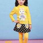 เสื้อแขนยาวสีเหลือง ลายกระต่ายน่ารักสดใส