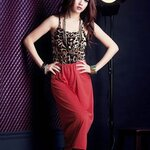 [Preorder] เดรสแฟชั่นแขนกุดลายเสือดาว สีแดง Wild charm leopard vest dress stitching