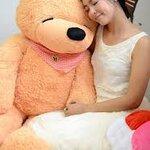 ตุ๊กตาหมีหลับ สีน้ำตาลอ่อน ขนาด 1.4 m.