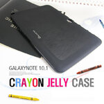 Crayon Jelly Case Wooden Pattern Matt For Galaxy Note 10.1