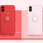 (693-005)เคสมือถือไอโฟน Case iPhone X เคสนิ่ม Lovely Rabbit