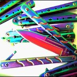 มีดBalisong TKBS 009X The Robocop Rainbow