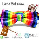 Love Rainbow - หูกระต่ายเด็ก สีรุ้ง แนวตั้ง เนื้อผ้าผิวมัน เรียบ Premium Quality+ (BT376) by WhiteMKT