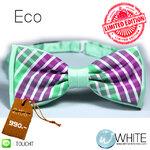 ECO Limited Edition - หูกระต่าย ผ้านอก พิพม์ลาย 2 ชั้น โทนสี เขียว Palegreen ม่วง (BT255) by WhiteMKT