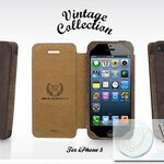 Case Kajsa Vintage Collection สีน้ำตาล for iPhone5 (IP5058)  by WhiteMKT